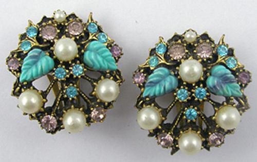 Florenza - Florenza Turquoise Leaves Earrings