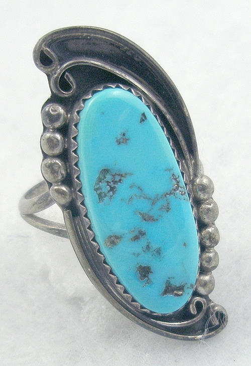 Native American - Fannie Platero Navajo Sterling Turquoise Ring