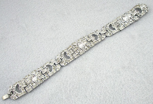 Art Deco - Art Deco Rhinestone Bracelet
