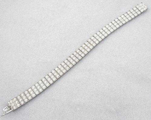 Bracelets - Wachenheimer Sterling Rhinestone Bracelet