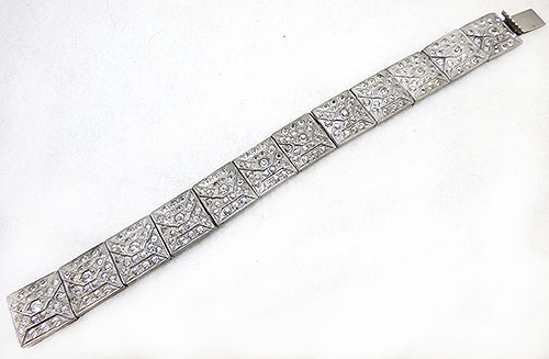 Newly Added Nov-E-Line Art Deco Rhinestone Bracelet