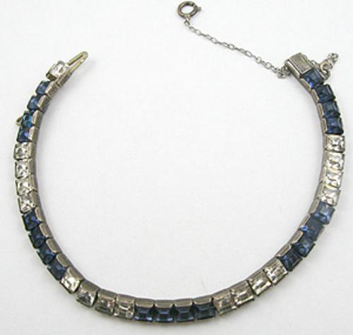 Newly Added Art Deco Sterling Line Bracelet