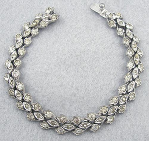 Newly Added Art Deco Sterling Rhinestone Bracelet