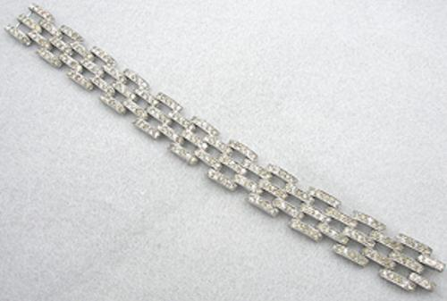 Newly Added Art Deco Rhinestone Tank Track Bracelet
