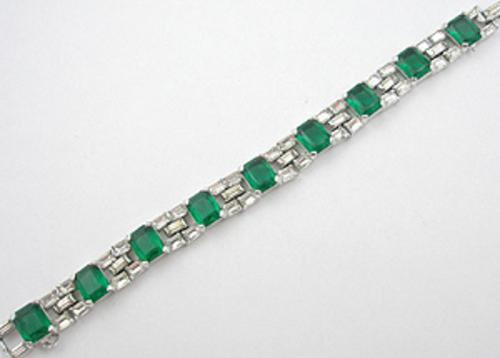 Newly Added Jomaz Emerald Rhinestone Bracelet