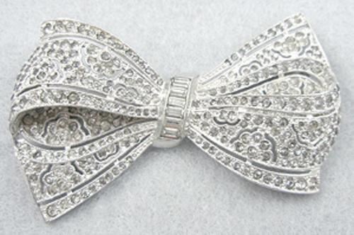 Newly Added Boucher Rhinestone Bow Brooch