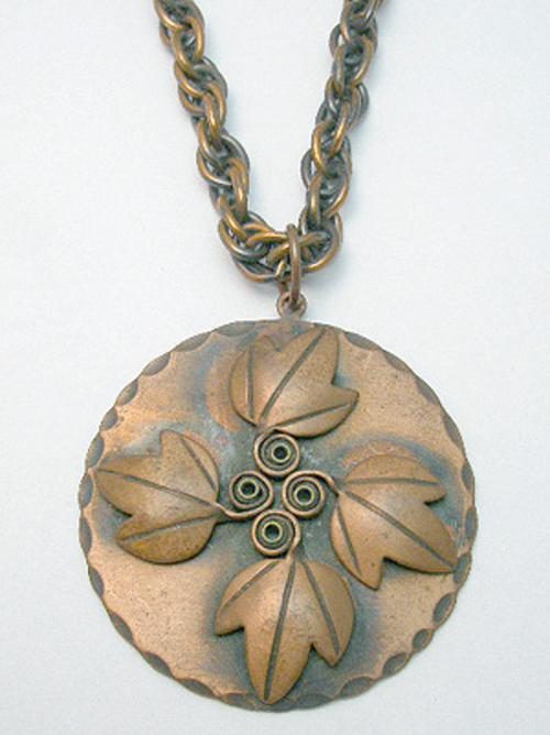Necklaces - Rebajes Copper Leaves Pendant