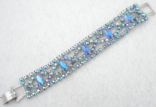 Bracelets - Blue Alexandrite & Aurora Rhinestone Bracelet