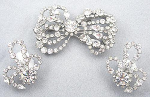 Sets & Parures - Austria Rhinestone Bow Brooch Set