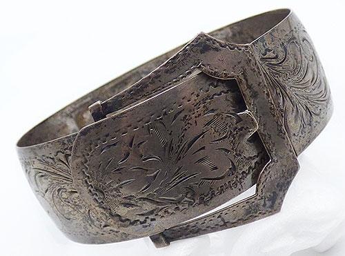Misc. Signed M-R - Art Deco Sterling Buckle Bracelet