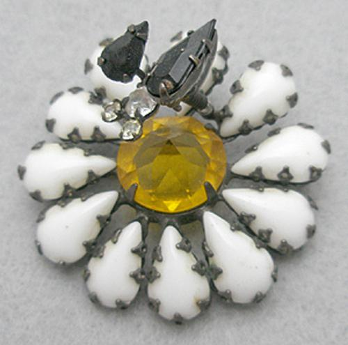 Newly Added Schreiner Trembler Flower with Bug Brooch