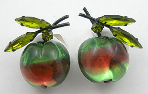 Fruits & Vegetables - Austria Glass Apple Earrings