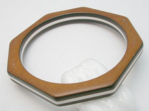 Wooden Jewelry - Wood & Plastic Laminated Bracelet