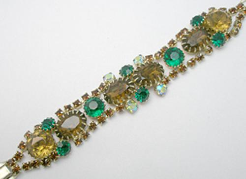 Newly Added Topaz and Green Rhinestone Bracelet