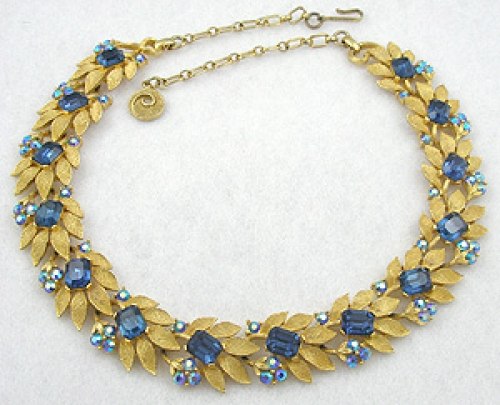 Lisner - Lisner Blue Rhinestone Necklace