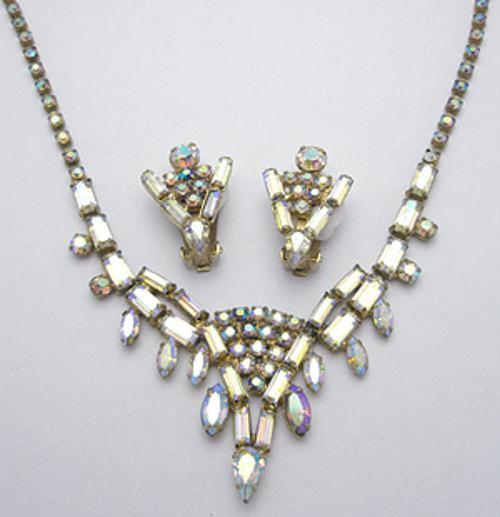 Sets & Parures - Crystal Aurora Rhinestone Necklace Set