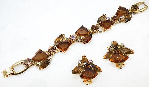 DeLizza & Elster/Juliana - DeLizza and Elster Amber Pie Stone Bracelet Set