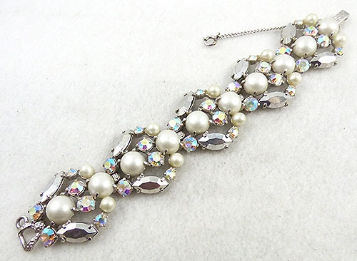 Trend: Chunky Stone & Scuptural Bracelets - Schiaparelli Faux Pearl Aurora Bracelet