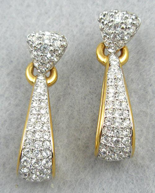 Swarovski - Swarovski Rhinestone Elongated Hoop Earrings