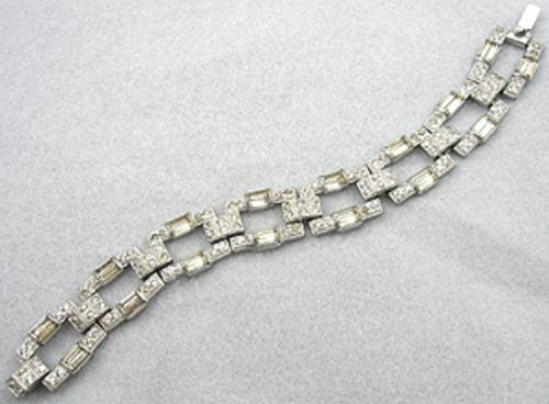 Newly Added Art Deco Rectangular Link Bracelet