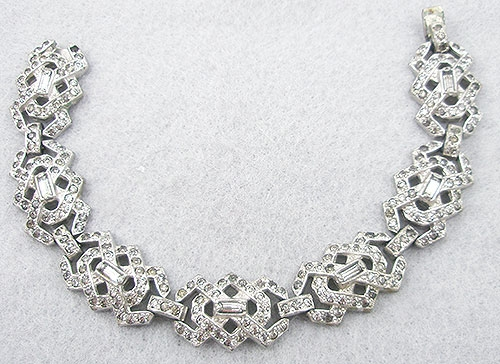 Bridal, Wedding, Special Occasion - Art Deco Rhinestone Bracelet