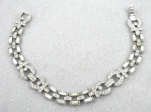 Bridal, Wedding, Special Occasion - Trifari Art Deco Rhinestone Bracelet