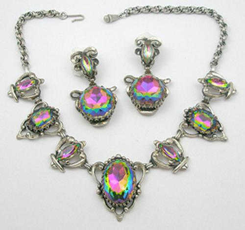 Schiaparelli - Schiaparelli Rainbow Watermelon Glass Necklace Set