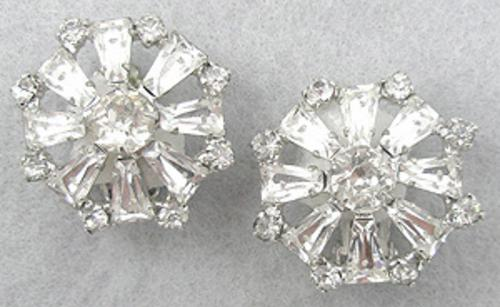 Earrings - Tapered Baguette Rhinestone Earrings