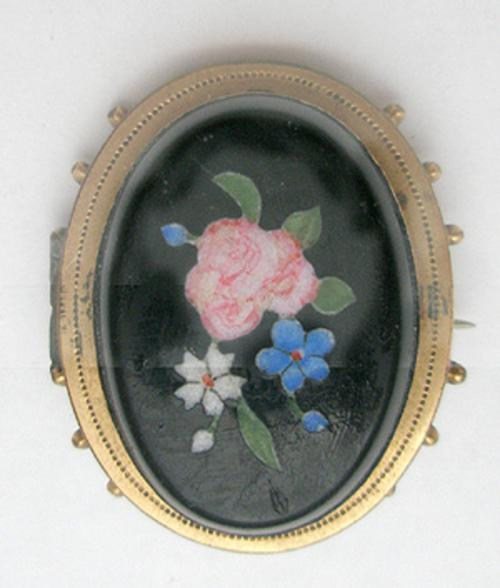 Brooches - Victorian Pietra Dura Brooch