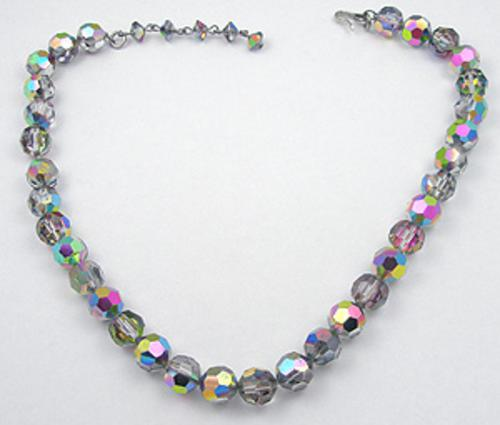 Winter Colors Jewelry - Black Diamond Aurora Crystal Bead Necklace