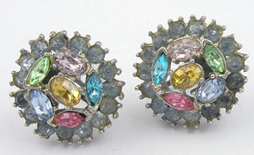 Earrings - Pastel Rhinestone Earrings