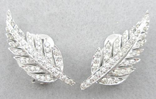 Leaves & Plants - DeRosa Sterling Rhinestone Leaf Earrings