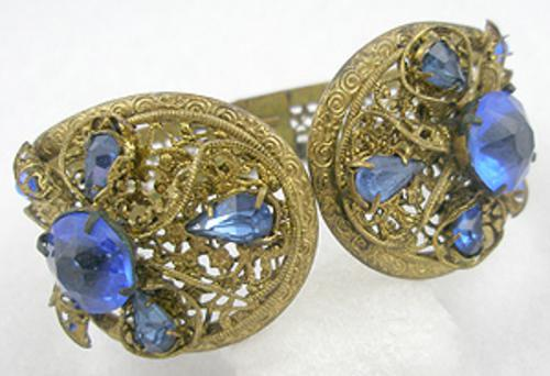Newly Added Czech Brass Filigree Hinged Bracelet