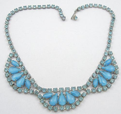 Necklaces - Turquoise Glass Moonstone Necklace