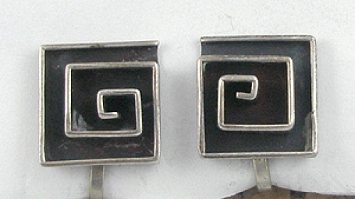 Mid-Century Modern - Mexican Sterling Modernist Earrings