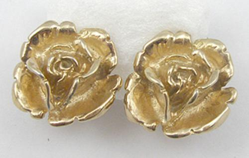 Florals - Napier Sterling Rose Earrings