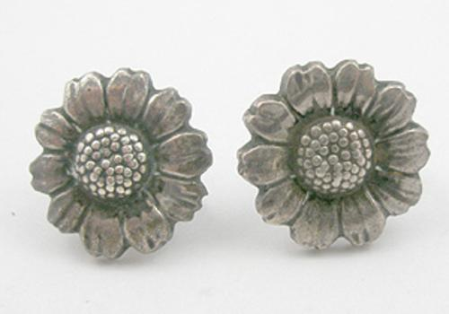 Newly Added Sterling Daisy Earrings