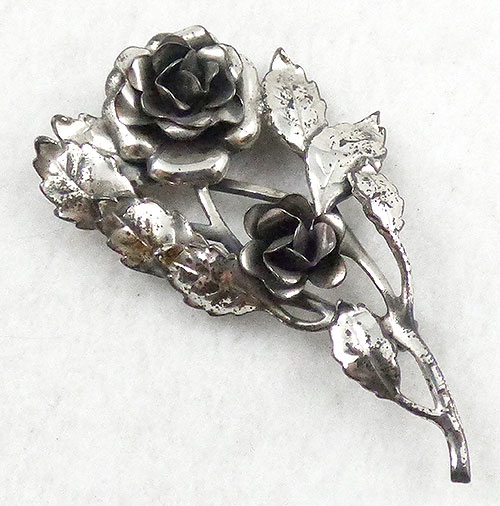 Brooches - Danecraft Sterling Roses Brooch