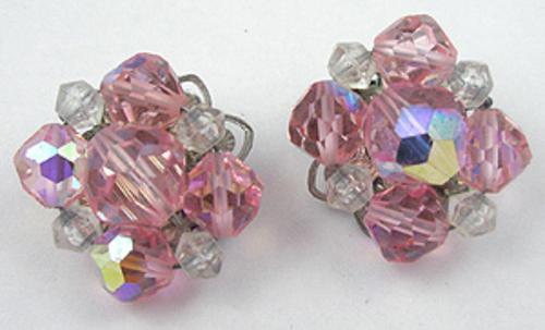 Earrings - Pink Crystal Bead Earrings