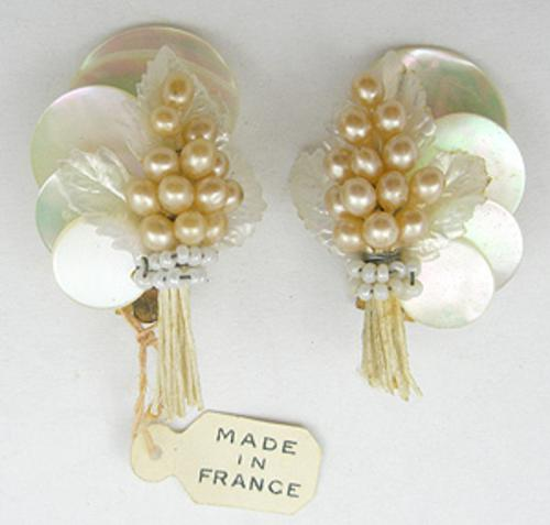 Newly Added French Mother-of-Pearl Earrings