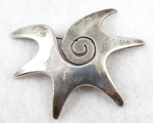 Mexico - Antonio Reina Modernist Sterling Brooch