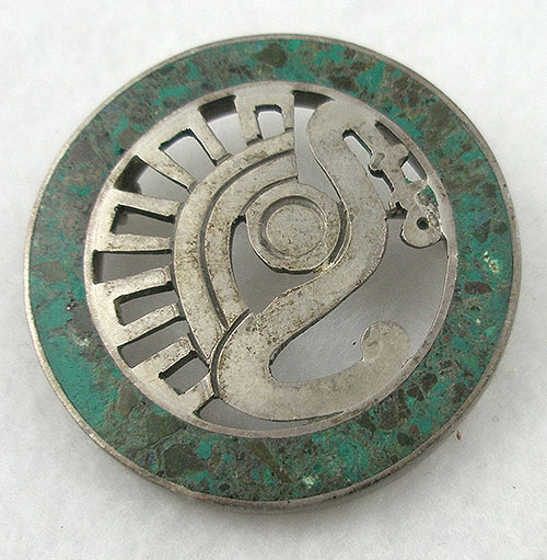 Brooches - Miguel Melelndez Sterling Circle Brooch