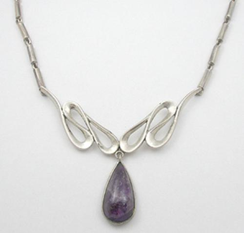 Misc. Signed M-R - Miguel Melendez Amethyst Necklace