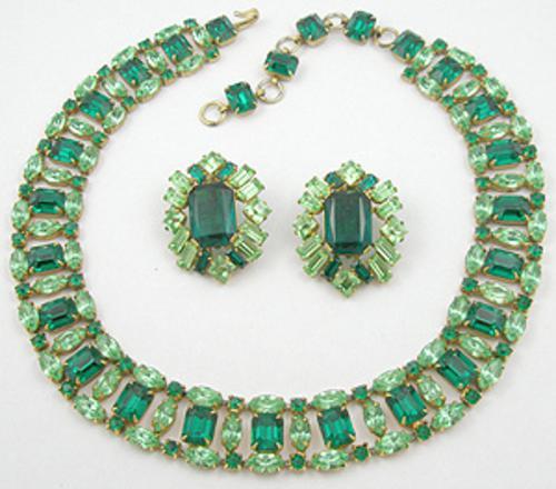 Schreiner - Schreiner Green Rhinestone Necklace