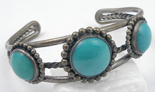 Newly Added Navajo Turquoise Silver Bracelet
