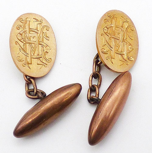 Victorian - Mappin & Webb 9ct Gold Cuff Links