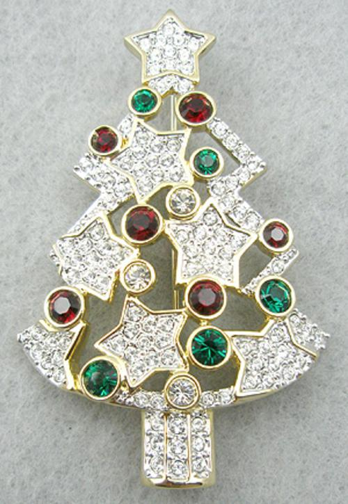 Newly Added Swarovski Christmas Tree Brooch