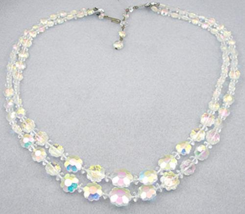 Necklaces - Crystal Aurora Flower Beads Necklace