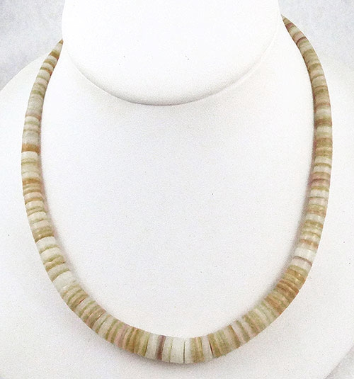 Necklaces - Southwestern Heishi Shell Necklace