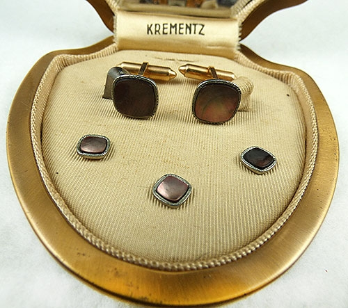 Men's Jewelry - Krementz Men's Mother-of-Pearl Dress Set